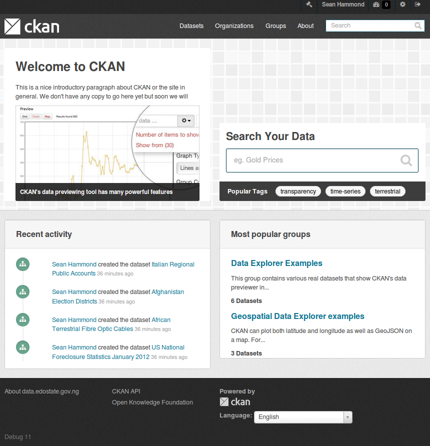 Customizing CKAN's CSS — CKAN 2 8 2 documentation